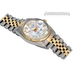 Rolex Accessories - Rolex Lady Datejust Silver Flower Diamond Dial